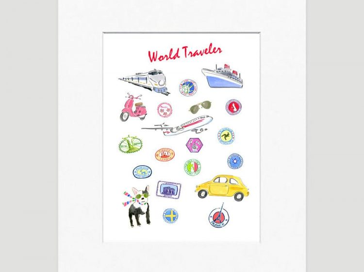 WORLD TRAVELLER ART PRINT